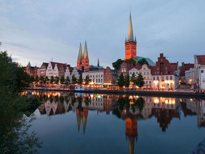 Panorama Obertrave in Lübeck (c) LTM - Ulrich Findeisen